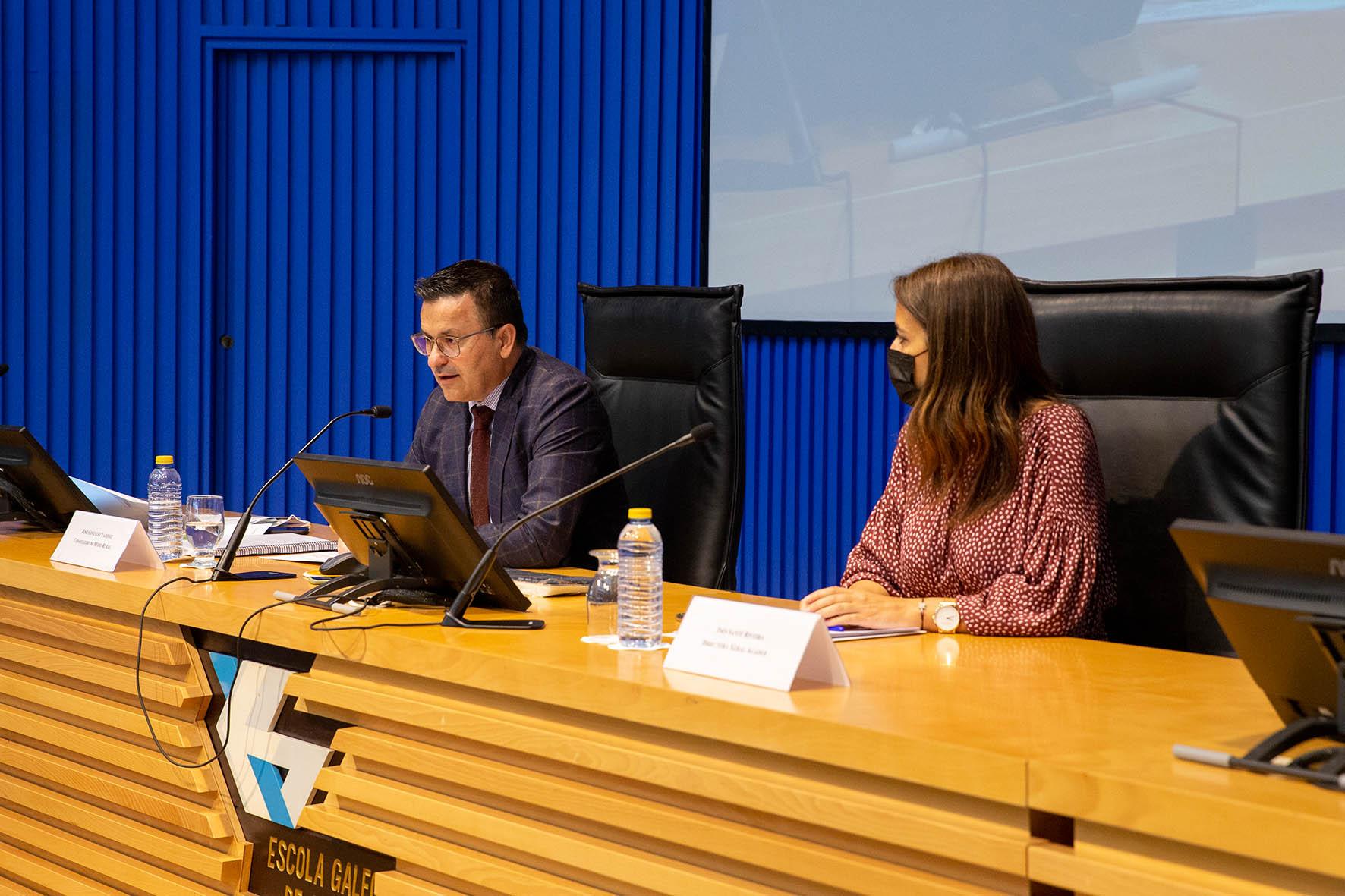 09,30 h.-    O conselleiro do Medio Rural, José González, acompañado pola directora xeral da Axencia Galega de Desenvolvemento Rural, Inés Santé, inaugurará unha xornada sobre a Lei de recuperación da terra agraria de Galicia.   foto xoán crespo 21/05/2021